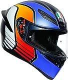 AGV(エージーブイ) バイクヘルメット フルフェイス K1 POWER MATT DARK BLUE/ORANGE/WH (パワーマットダーク ブルー/オレンジ/ホワイト) M (57-58cm) 028192IY008-M
