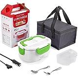 Jerica Gamelle Chauffante 12v 24v 220v Lunch Box Chauffante Electrique 3 in 1 Boîte Repas...