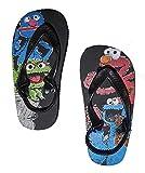 Sesame Street Unisex Kids Charcater Thong Flip Flops, Black, 7/8