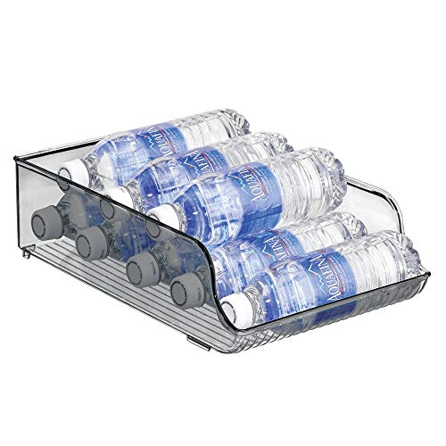 mDesign Wide Plastic Kitchen Water Bottle Storage Organizer Tray...