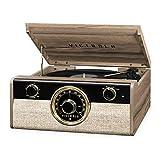 Victrola Wood Metropolitan Mid Century Modern Bluetooth Record Player with 3-Speed Turntable and Radio, VTA-240B-FNT