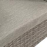 Ribelli Polyrattan Gartensitzbank mit Tisch 2-Sitzer grau Rattan Lounge - 5