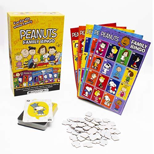Aquarius Peanuts Family Bingo Game, Multicolor
