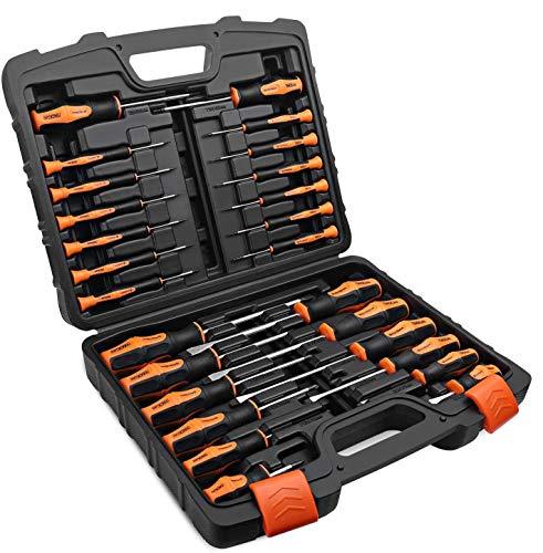 TACKLIFE Schraubendreher Set 26tlg Professioneller magnetischer Schraubendrehersatz mit Koffer, TPR-PP-Griff, Schlitz- / Kreuzschlitz- / Torx-Präzisionsschraubendreher für die Gerätereparatur HSS1B