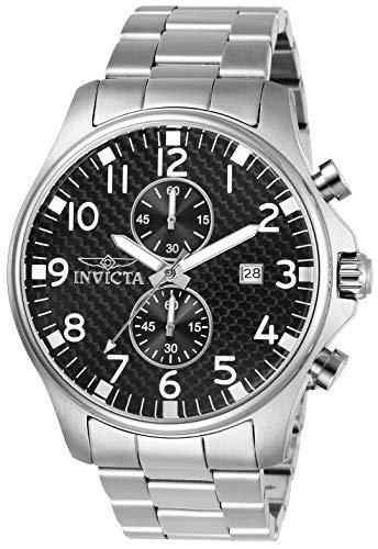Invicta 0379 Specialty Herren Uhr Edelstahl Quarz schwarzen Zifferblat