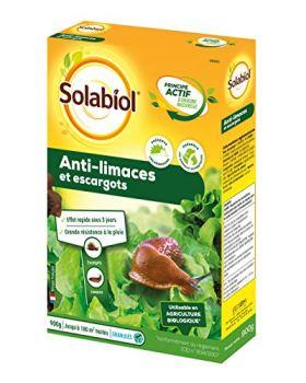SOLABIOL SOLIMA900 Anti Limaces et Escargots Granules d'Origine Naturelle | 900 gr | Jusqu'à 180 m² de traités | Résiste Sous La Pluie | Utilisable en Agriculture Biologique