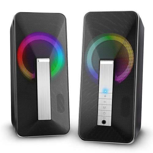 ELEGIANT Cassa PC USB, Altoparlante Bluetooth 10W Stereo Speaker Subwoofer Portatile per Notebook TV...