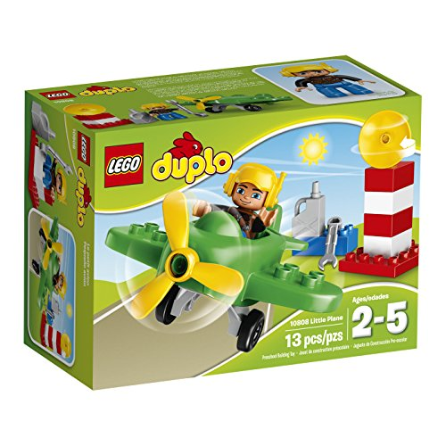 LEGO DUPLO Airport Little Plane 10808, Preschool, Pre-Kindergarten Large Building Block Toys for Toddlers