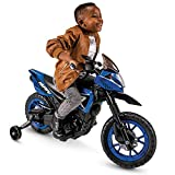 Huffy 6V Kids Electric Battery-Powered Ride-On Motorcycle Bike Toy w/Training Wheels, Engine Sounds, Charger - Blue