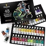 Kit de peinture acrylique Castle Art Supplies — 48 gros tubes de couleurs...