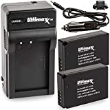 Ultimaxx AC/DC Rapid Home & Travel Charger with 2X LP-E12 Extended Life Battery (1300mAh / 7.4V / 9.6Wh) Replacement for Canon LP-E12 for Use with SX70 HS, Rebel SL1, EOS-M, M2, M10, M50, M100