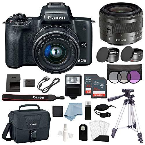 Canon EOS M50 ミラーレスデジタルカメラ 15~45mm f/3.5~6.3 IS STMレンズバンドル