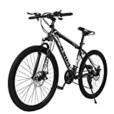 26 inch Lightweight Folding Bike for Men Women Aluminum Mountain Frame Front Suspension 21 Speed Alloy Wheels Mountain Bike Adult Road Bicycles