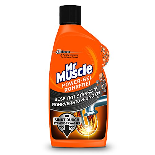 Mr Muscle Drano Power Rohrreiniger Gel Abflussreiniger, entfernt Verstopfungen, rohrfrei, 1er Pack (1 x 500 ml)