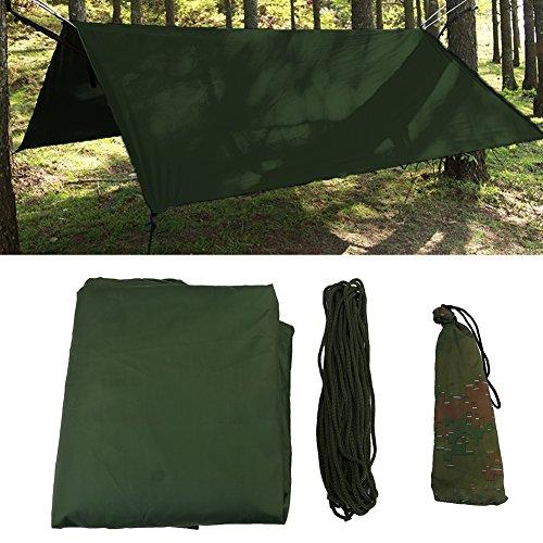Dioche Camping Tarp Shelter, Outdoor Tragbare Leichte Regen Tarp Fly Tarp Shelter(Grün)