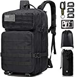Monoki Military Tactical Backpack, Army 3 Day Assault Pack,42L Molle Bag Rucksack