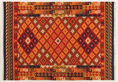 ABC Kilim Sivas 1 Tappeto, Rosso/Multicolore, 60x120