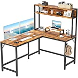 CubiCubi L-Shaped Desk with Hutch,59' Corner Computer Desk,Home Office Gaming Table Workstation with...