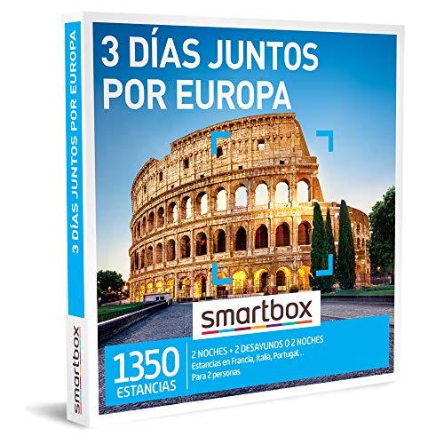 Smartbox - Caja Regalo Amor para Parejas - 3 días Juntos por Europa - Ideas Regalos Originales - 2 Noches con Desayuno o 2 Noches para 2 Personas