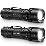 GearLight Tac LED Tactical Flashlight [2 Pack] - Handheld, Single Mode, High Lumen, Zoomable, Water Resistant, Flash Light - Camping Accessories, Emergency Gear, Flashlights with Clip