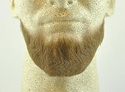 Full Character Beard - LIGHT BROWN w/ Spirit Gum Realistic looking beard on lacing. Made with 100% Human Hair Each Order Includes (1) 3 ml Spirit Gum Per Order Re-usable! Can be styled and modified to your preferred look Perfect choice for theater. P...