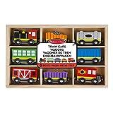 Melissa & Doug- Train Cars Juguetes Trenes de Maderacon 8 Piezas, 3+ Años, Multicolor (15186)