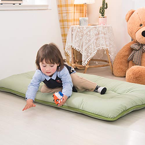 Product Image 9: YOSHOOT Portable Toddler Travel Bed, Kids Memory Foam Floor Mattress Bed Foldable, Mattress for Toddler, Portable Travel Mattress Camp Mattress Tatami Mat, with Mattress Cover and Carry Storage Bag