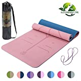 Lixada Tapis de Yoga antidérapants, TPE Pilates insipides Gym Exercise...