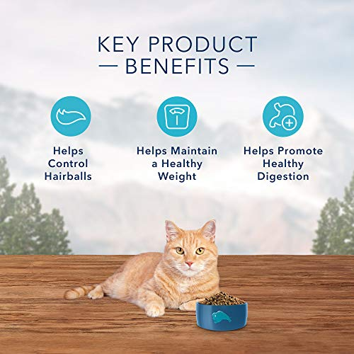 Product Image 5: Blue Buffalo Wilderness High Protein, Natural Adult Indoor Hairball & Weight Control Dry Cat Food, Chicken 11-lb