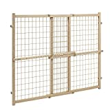 Evenflo Position and Lock Tall Pressure Mount Wood Gate (Expands...