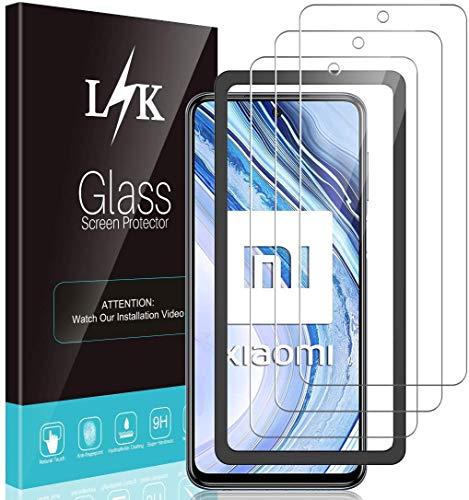 LϟK 3 Pack Protector de Pantalla para Xiaomi Redmi Note 9 Pro, Cristal Vidrio Templado Premium [Dureza 9H] [Funda Compatible] [Anti-Arañazos] [Sin Burbujas] [Kit Fácil de Instalar]