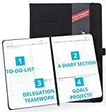 2020 Planner by Action Day - Weekly & Monthly Planner - Powerful Time Management Design Makes It Easy for You to Get Things Done & Increase Your Productivity - Pocket, Black Hardcover, 8x11, Pro