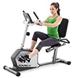 Marcy Recumbent Exercise Bike with Adjustable Seat and 8 Resistance Levels, 300 Pound Capacity NS-1201R