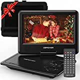 DBPOWER 11.5' Portable DVD Player, 5-Hour Built-in Rechargeable Battery, 9' Swivel Screen, Support...
