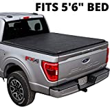 LEER ROLLITUP   Compatible with 2015+ Ford F-150 with 5.6' Bed   Soft Roll Up Truck Bed Tonneau Cover   4R112   Low-Profile, Sturdy, Easy 15-Minute Install (Black)