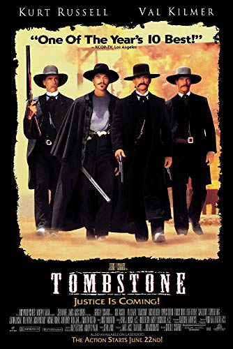 Tombstone - Movie Poster (Regular Style - Black) (Size: 24 x 36 inches)