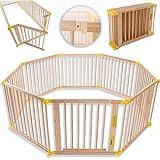 KIDUKU Barrière de sécurité Parc bébé XXL 7,2 mètres, pliant, porte...