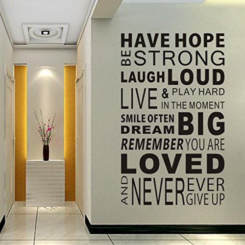 Delma Inspirational Wall Decals Quotes,Word Wall Sticker Quotes,Motivational Wall Decal,Family Inspirational Wall Art Sticker Vinyl Wall Mural Paint Decor