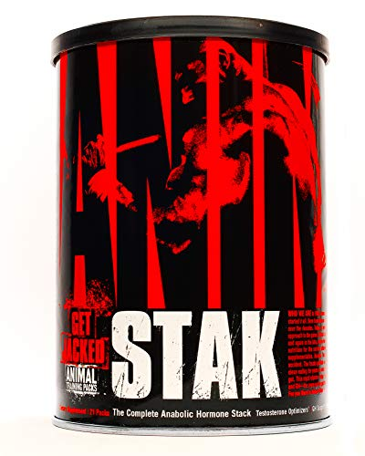 Animal Stak - Natural Hormone Booster Supplement with Tribulus and GH Support Complex - Natural Testosterone Booster for Bodybuilders and Strength Athletes - 1 Month Cycle