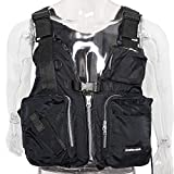 Amarine Made Boat Buoyancy Aid Sailing Kayak Fishing Life Jacket Vest - D13, Color in: Black, Yellow, Red (Black)