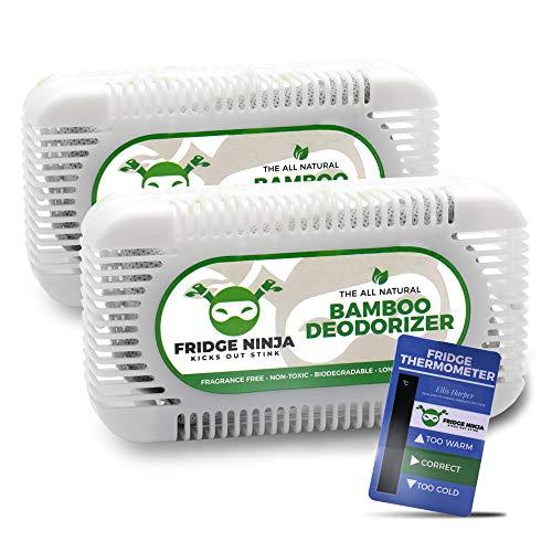 Ellis Harper Assorbi odori Frigorifero e Freezer Purificatore Deumidificatore Naturale per Ambienti Senza Profumi Deodorante Anti Muffa Togli Umidit Antiodore Set di 2 Pezzi