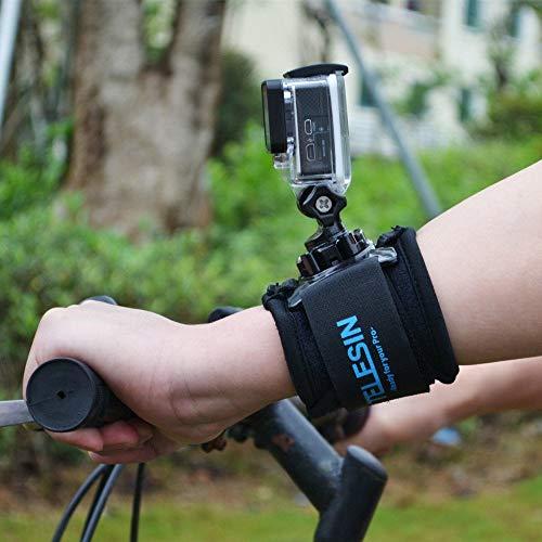TELESIN Cinturino da polso a braccio rotante da 360 gradi con attacco a rotazione per Gopro Hero3 / 3 + / 4, Sessione Hero4, Hero5 Nero, Sessione Hero5