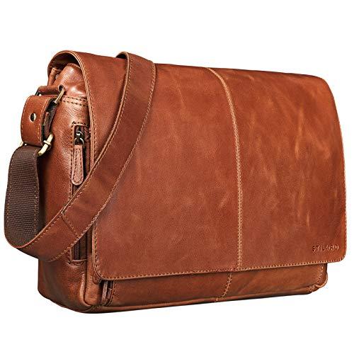 STILORD \'Alex\' Businesstasche Damen Leder Vintage Ledertasche Frauen zum Umhängen 15,6 Zoll Laptoptasche Aktentasche Unitasche Umhängetasche Leder
