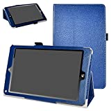 NuVision TM800P610L TM800W610L Case,Mama Mouth PU Leather Folio 2-Folding Stand Cover for 8.0' 2017 Newest NuVision TM800P610L TM800W610L Windows 10 Signature Edition Tablet,Dark Blue