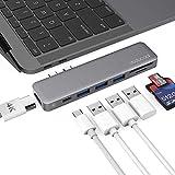 dodocool Hub MacBook Pro, Hub USB C Compatible avec MacBook Pro 2019/2018/2017/2016, MacBook Air 2019/2018, USB C 3.1 Compatible Thunderbolt 3, 100W PD, 3 USB 3.0, 4K HDMI, Lecteur de Carte SD/TF