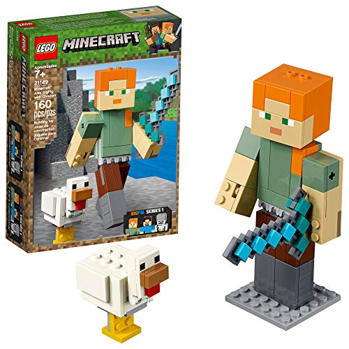 LEGO Minecraft Alex BigFig with Chicken 21149 Building Kit (160 Pieces)