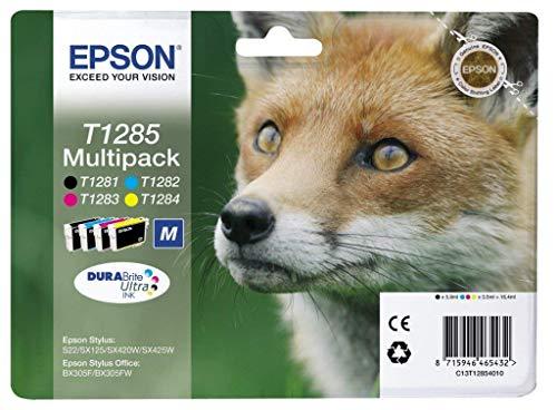 Epson T128 Serie Volpe, Cartuccia a Getto d'Inchiostro DURABrite Ultra, Formato Standard, Multipack...