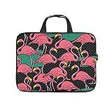 Flamingo Animal - Funda para portátil con impresión completa de neopreno, funda para portátil, elegante para empresarios y personal de oficina