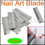 10pcs / set lame de coupe bord enduit pour fimo canes nail art