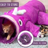 Pet-Craft-Supply-Magic-Mewnicorn-Multi-Cat-Tunnel-Boredom-Relief-Toys-with-Crinkle-Feather-String-for-Dogs-Cats-Rabbits-Kittens-and-Guinea-Pigs-for-Hiding-Hunting-and-Resting